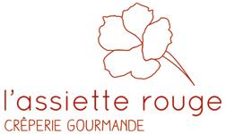 logo restaurant assiette rouge